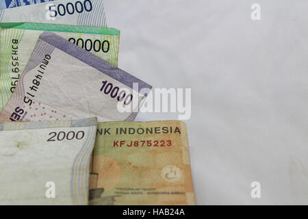 Indonesian rupiah currency exchange financial business economy - Stock Photo