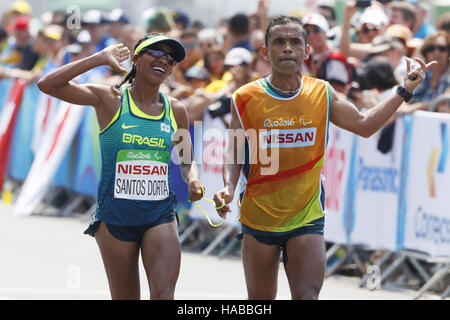 Rio de Janeiro, Brazil. 18th Sep, 2016. Edneusa de Jesus Santos Dorta (BRA) Athletics : Women's Marathon T12 at - Stock Photo
