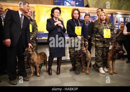 YAKUTSK, RUSSIA - NOVEMBER 29, 2016: South Korean veterinarian and researcher Hwang Woo-Suk, head of Sooam Biotech - Stock Photo