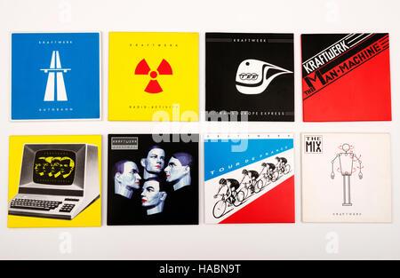 Kraftwerk The Catalogue CD collection - Stock Photo