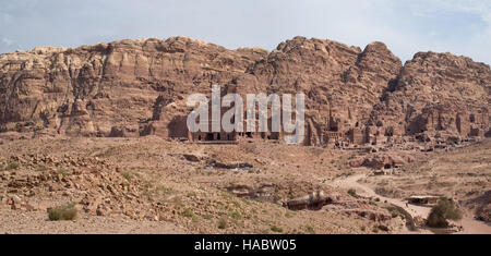 Jordan, Petra. Royal Tombs  in the Southern part of the city - Stock Photo