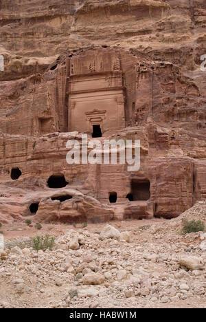 Uneishu Tomb, Petra, Jordan - Stock Photo
