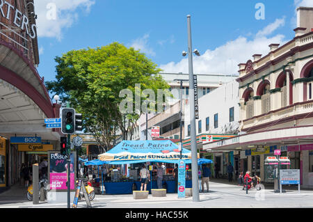 Brunswick Street Mall, Fortitude Valley, Brisbane, Queensland, Australia - Stock Photo