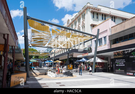 Brunswick Street Mall, Fortitude Valley, Brisbane, Queensland, Australia - Stock Photo