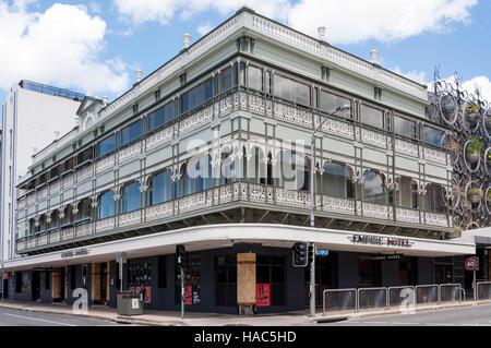 Historic Empire Hotel, Brunswick Street, Fortitude Valley, Brisbane, Queensland, Australia - Stock Photo