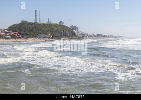 Cal and Grande beachs in a sunny and windy day - Stock Photo
