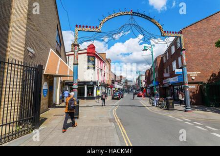 Brick Lane in Tower Hamlets, London, UK - Stock Photo