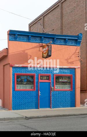 Der Blau Reiter (The Blue Rider) Bar in downtown Minot, North Dakota - Stock Photo