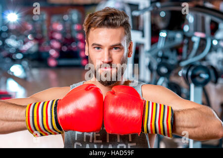 Boxer in the gym - Stock Photo