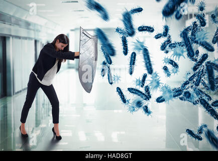 3D Rendering attack of bacteria - Stock Photo