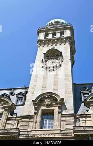La Sorbonne, Rue Saint-Jacques, Paris, France Main building Paris Sorbonne University - Stock Photo