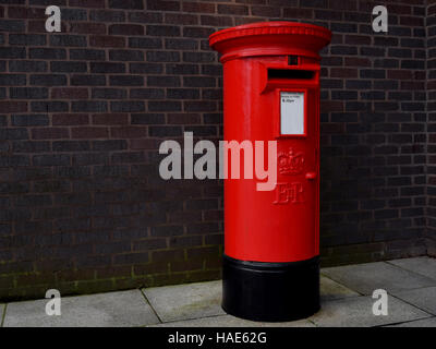 Red mailbox in Birmingham city center - Stock Photo