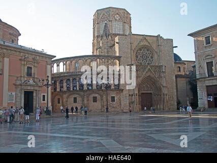 Valencie Cathedral, Plaza De La Virgin, Spain, Europe