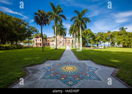 Ca' d'Zan the opulent mansion in the Mediterranean Revival style of John & Marble Ringling in Sarasota Florida - Stock Photo