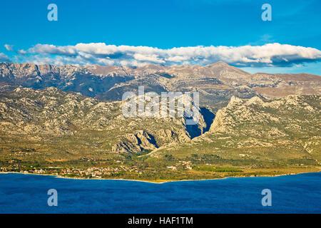 Paklenica canyon National park view on Velebit mountain in Croatia - Stock Photo
