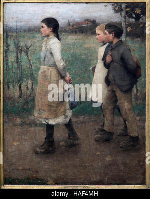 James Guthrie 1859-1930 Schoolmates 1884 - Stock Photo