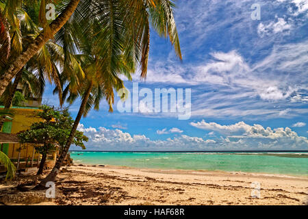 Worthing Beach at Worthing, between St. Lawrence Gap and Bridgetown, Barbados, Caribbean.