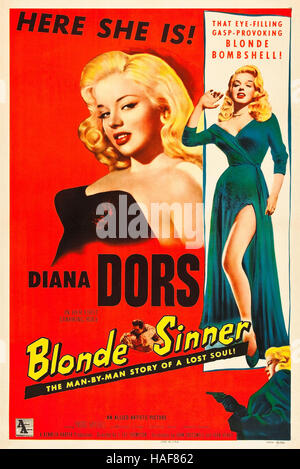 BLONDE SINNER (aka Yield To the Night) 1956 Associated British film with Diana Dors - Stock Photo