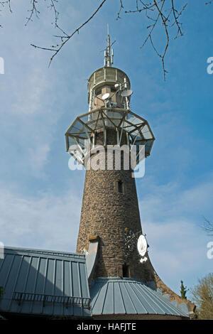 Deutschland, Nordrhein-Westfalen, Kreis Siegen-Wittgenstein, Kreuztal, Kindelsbergturm - Stock Photo