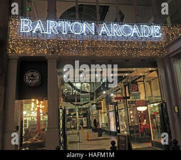 Barton Arcade,Manchester retail shopping, Winter,England, UK - Stock Photo
