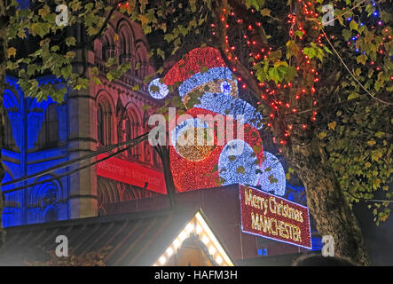 Manchester Christmas Markets December, North West England , UK - Stock Photo