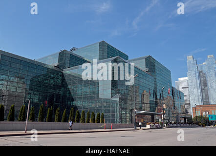 The Jacob K. Javits Convention Center (Javits Center) in Hell's Kitchen, Manhattan, New York City, United States. - Stock Photo