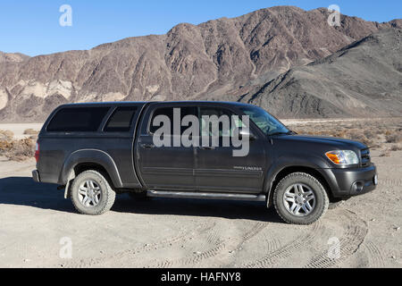 2006 Toyota Tundra at Racetrack Playa in Death Valley National Park - Stock Photo