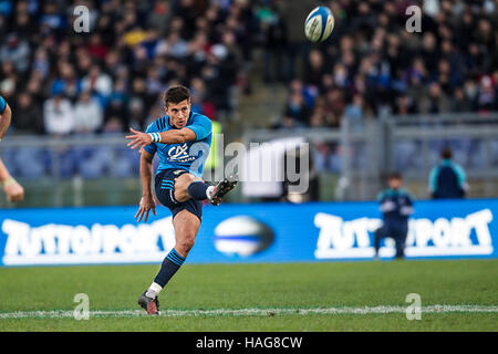 Roma ITALY - 12 November 2016 - Rugby - Stadio Olimpico in Roma  - Rugby Test Match - Italy  New Zealand - Tommaso - Stock Photo