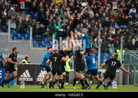 Roma ITALY - 12 November 2016 - Rugby - Stadio Olimpico in Roma  - Rugby Test Match - Italy  New Zealand - All Blacks - Stock Photo