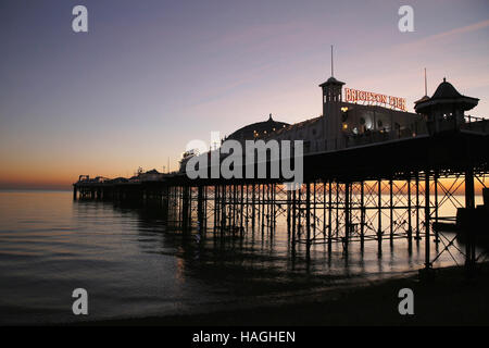 Brighton. East Sussex, UK. 30th Nov, 2016. Brighton Pier, Brighton Pier Group PLC, which was bought in April this - Stock Photo