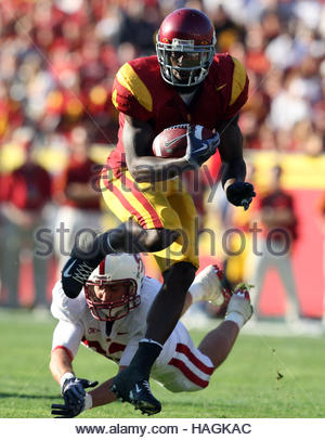 Los Angeles, California, USA. 10th May, 2007. USC's Joe McKnight (4) runs for a 28 yard touchdown in the fourth - Stock Photo