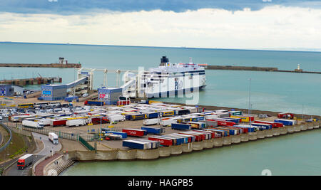 Dover Eastern Docks UK - Stock Photo
