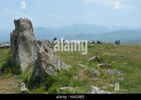 Karahunj or Zorats Karer is a prehistoric archaeological site near the city of Sisan in Armenia.
