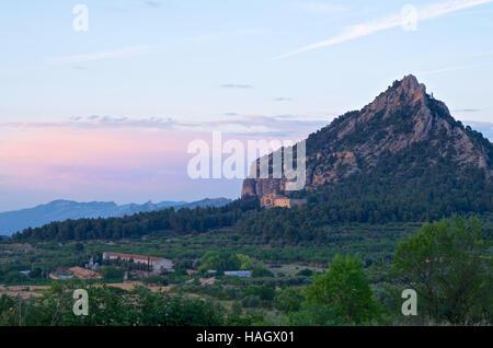Muntanya santa Barbara / Saint Barbara Mountain, Horta de Sant Joan, Catalonia - Stock Photo