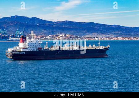 Castillo de Monterreal,  OIL/CHEMICAL, tanker of Gibraltar. - Stock Photo