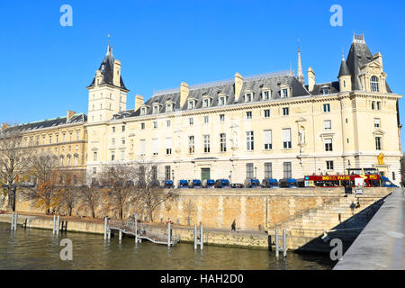 Paris. France.Palais de Justice on the Île de la Cité Paris - Stock Photo