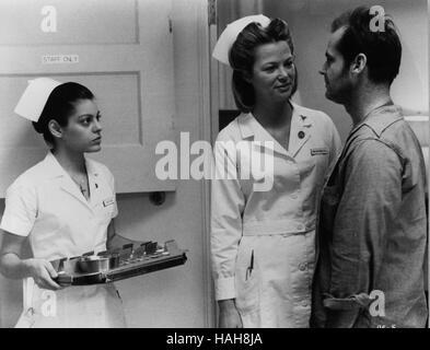 One Flew Over The Cuckoo's Nest Year : 1975 USA Director : Milos Forman Louise Fletcher, Jack Nicholson - Stock Photo
