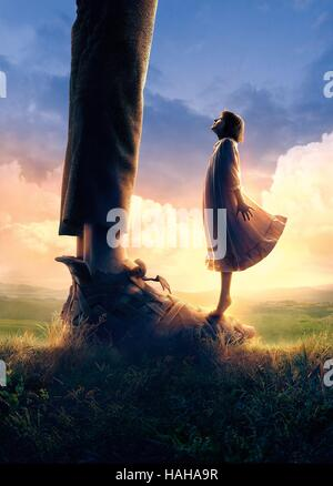 The Big Friendly Giant  Year : 2016 UK / Canada / USA Director : Steven Spielberg Ruby Barnhill  Art Work - Stock Photo