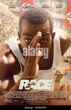 Race Year : 2016 Canada / Germany Director : Stephen Hopkins Stephan James Movie poster (USA) - Stock Photo