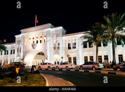 famous bab al bahrain square landmark in central manama old town at night - Stock Photo