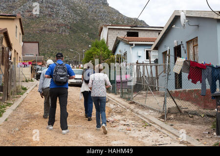 Tourists on a guided tour of Imizamo Yethu township,  Cape Town South Africa