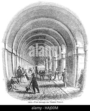 THAMES TUNNEL AT ROTHERHIDE built 1825-1843
