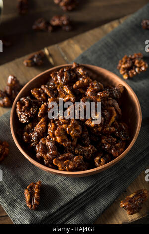 Sweet Homemade Candied Walnuts Ready to Eat - Stock Photo