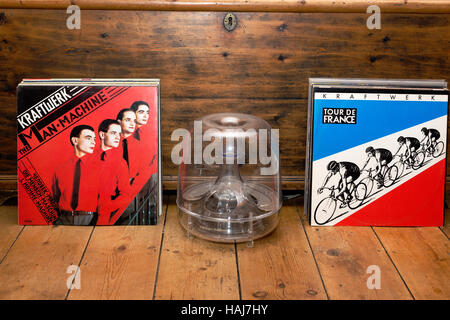 Kraftwerk vinyl records - Stock Photo