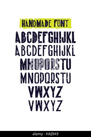 Typographic compositions. Letters of the alphabet - Stock Photo