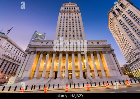 United States Court House in the Civic Center district of New York City. Stock Photo