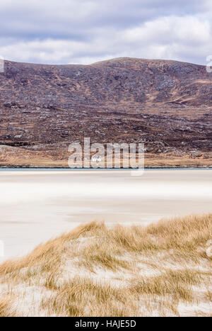 Seilebost beach at low tide, Harris, Hebrides, Scotland - Stock Photo