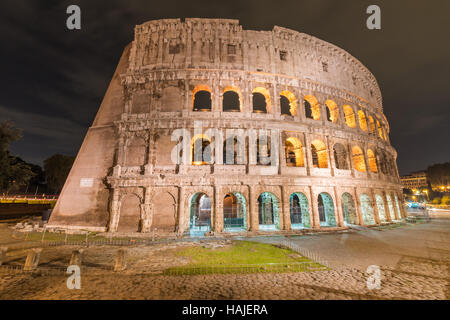 Rome, Italy - The archeological area in historic center - Stock Photo