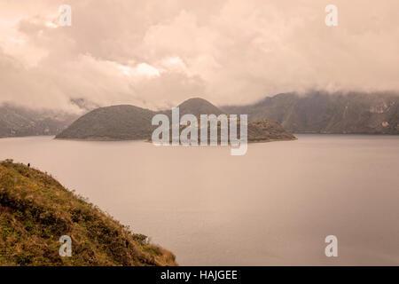 Cuicocha Crater Lake, Reserve Cotacachi Cayapas, Ecuador, South America - Stock Photo