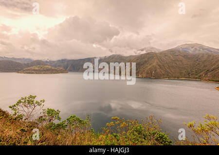 Laguna Cuicocha, Lake Of Guinea Pigs Or Kuychikucha, Rainbow Lake Is A 3 Km Wide Caldera And Crater Lake At The - Stock Photo